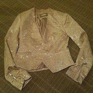 Shinny cream blazer forever 21